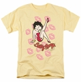 Betty Boop t-shirt Kisses mens banana