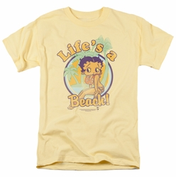 Betty Boop t-shirt Life'S A Beach mens banana