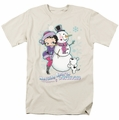 Betty Boop t-shirt Melting Hearts mens cream