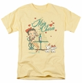 Betty Boop t-shirt Mon Cherie mens banana