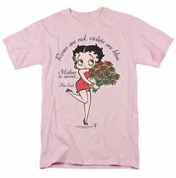 Betty Boop t-shirt Mother Is Sweet mens pink