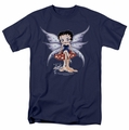 Betty Boop t-shirt Mushroom Fairy mens navy