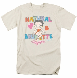 Betty Boop t-shirt Natural Brunette mens cream