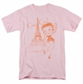 Betty Boop t-shirt Oui Oui mens pink
