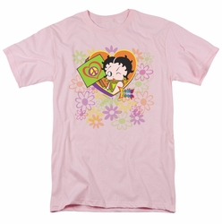 Betty Boop t-shirt Peace Love And Boop mens pink