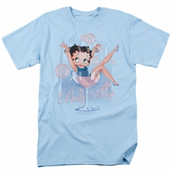 Betty Boop t-shirt Pink Champagne mens light blue