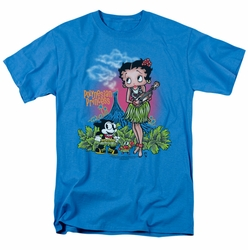 Betty Boop t-shirt Polynesian Princess mens turquoise