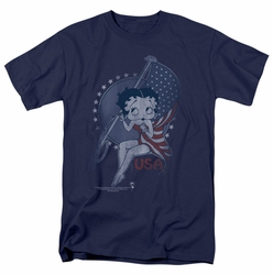 Betty Boop t-shirt Proud Betty mens navy