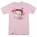 Betty Boop t-shirt Puppy Love mens pink