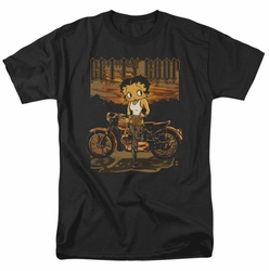 Betty Boop t-shirt Rebel Rider mens black