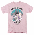 Betty Boop t-shirt Singing In Ny mens pink