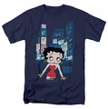 Betty Boop t-shirt Square mens navy
