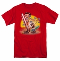 Betty Boop t-shirt Surf mens red