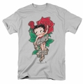 Betty Boop t-shirt Tattoo mens silver