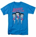 Betty Boop t-shirt The Boops Have It mens turquoise