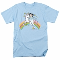 Betty Boop t-shirt Unicorn & Rainbows mens light blue
