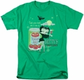 Betty Boop t-shirt Vampire Tomato Juice mens kelly green