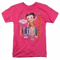 Betty Boop t-shirt Wet Your Whistle mens hot pink