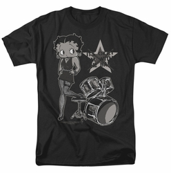 Betty Boop t-shirt With The Band mens black