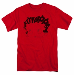 Betty Boop t-shirt Word Hair mens red