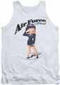 Betty Boop tank top Air Force Boop adult white
