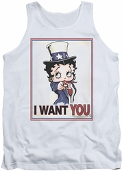 Betty Boop tank top Auntie Boop adult white