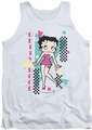 Betty Boop tank top Booping 80's Style adult white