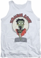 Betty Boop tank top Breezy Zombie Love adult white