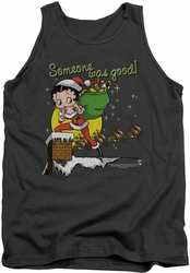 Betty Boop tank top Chimney adult charcoal
