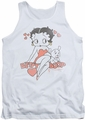 Betty Boop tank top Classic With Pup adult white