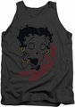 Betty Boop tank top Classic Zombie adult charcoal