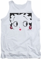 Betty Boop tank top Close Up adult white