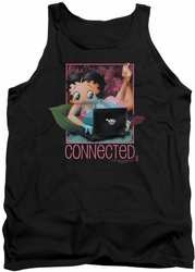 Betty Boop tank top Connected adult black