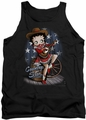 Betty Boop tank top Country Star adult black