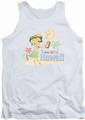 Betty Boop tank top Hot In Hawaii adult white