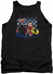 Betty Boop tank top Hot Rod Boop adult black