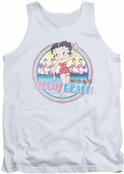 Betty Boop tank top Miami Beach adult white