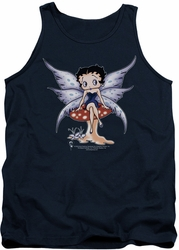 Betty Boop tank top Mushroom Fairy adult navy