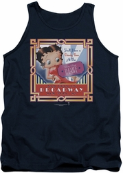 Betty Boop tank top On Broadway adult navy