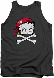 Betty Boop tank top Pirate adult charcoal