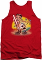 Betty Boop tank top Surf adult red