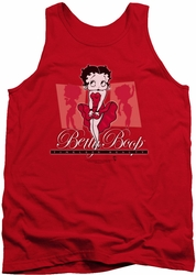 Betty Boop tank top Timeless Beauty adult red