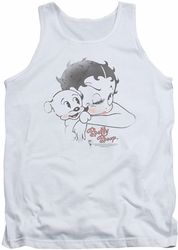 Betty Boop tank top Vintage Wink adult white