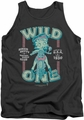 Betty Boop tank top Wild One adult charcoal