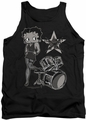Betty Boop tank top With The Band adult black