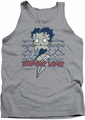 Betty Boop tank top Zombie Pinup adult athletic heather