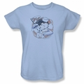 Betty Boop womens t-shirt S.S. Vintage light blue