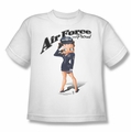 Betty Boop youth teen t-shirt Air Force Boop white