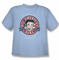 Betty Boop youth teen t-shirt All American Girl light blue