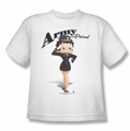 Betty Boop youth teen t-shirt Army Boop white